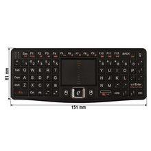 Беспроводная мини клавиатура черная  - Краткое описание