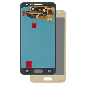 LCD compatible with Samsung A300 Galaxy A3, (golden, with touchscreen, original (change glass) )