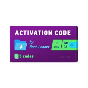 Boot-Loader 2 0 Activation Code (1 year, 5 codes x 50 GB)