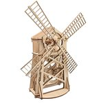 Mechanical 3D Puzzle Wood Trick Windmill