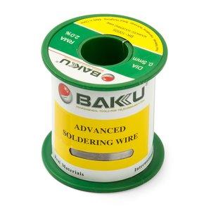 Припой BAKU BK-10005, Sn 97%, Ag 0.3%, Cu 0.7%, flux 2%, 0,5 мм, 50 г