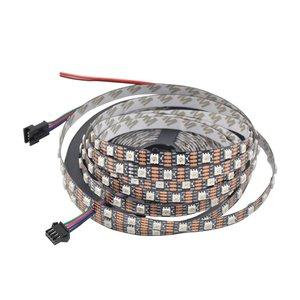 Світлодіодна стрічка RGB SMD5050, WS2813 (чорна, з управлінням, IP20, 5 В, 60 діодів/м, 1 м)