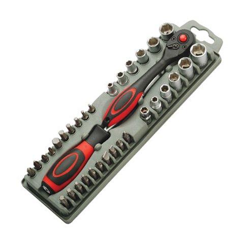 Набор битодержатель Pro'sKit SD 2307M с трещеточным механизмом с битами