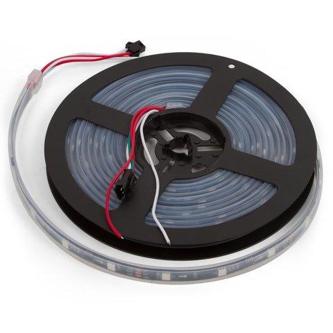 RGB LED Strip SMD5050, WS2811 with controls, black, IP67, 12 V, 30 LEDs m, 5 m